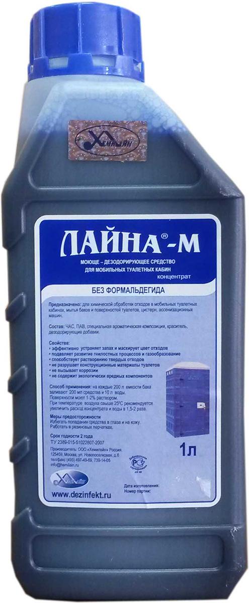 Моюще-дезодорирующее средство для мобильных туалетных кабин Лайна-М, концентрат, 1 л