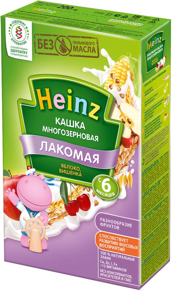 Heinz Лакомая каша многозерновая яблоко, вишенка, с 6 месяцев, 200 г heinz каша многозерновая из пяти злаков с 6 месяцев 200 г