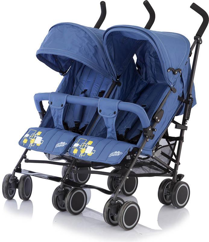 купить Baby Care Коляска-трость для двойни City Twin цвет синий дешево