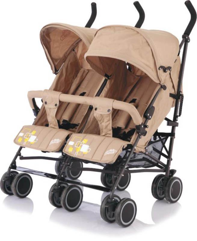 купить Baby Care Коляска-трость для двойни City Twin цвет хаки дешево