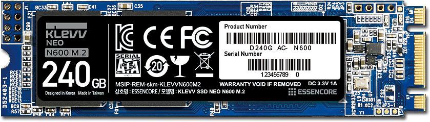 лучшая цена SSD диск Klevv NEO N600 M.2 240GB (D240GAC-N600)