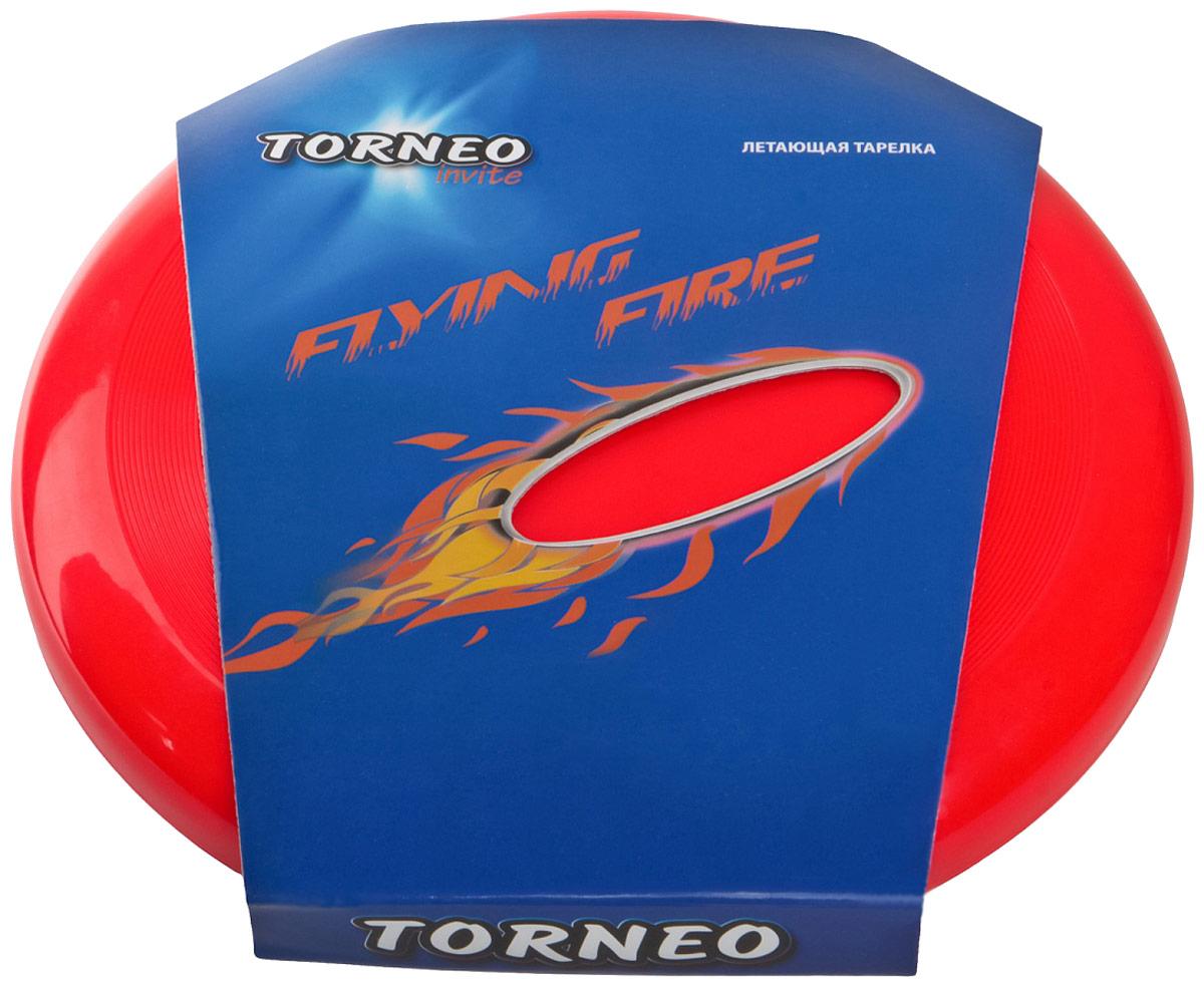 """Тарелка летающая """"Torneo"""", цвет: красный, диаметр 25 см"""