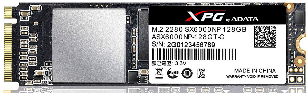 SSD диск ADATA XPG SX6000 128GB (ASX6000NP-128GT-C) ssd диск adata xpg sx6000 128gb asx6000np 128gt c