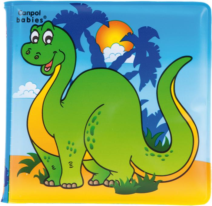 Canpol Babies Книжка с пищалкой для ванны Динозаврик250930629Книжка для ванной Динозаврик с пищалкой рекомендована детям от 6 месяцев. Она изготовлена из полностью безопасных материалов, ее можно мыть с водой и купаться вместе с ней. Странички книжки мягкие и снабжены пищалкой внутри, что несомненно привлечет внимание малыша при игре с книгой. Эта книжка отлично подойдет для первого знакомства с книгами, так как содержит большие, яркие и понятные картинки с животными без сопровождения текста, который ребенок еще пока не способен воспринимать в данном возрасте. Особенности: - яркие большие понятные картинки; - пищалка внутри; - подходит для игры в ванной.