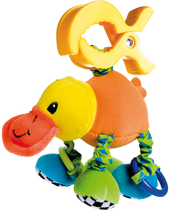 Canpol Babies Игрушка подвесная мягкая с вибрацией Утконос для младенцев мягкая игрушка запястье погремушки ножки