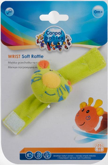 Canpol Babies Мягкая игрушка с погремушкой на руку цвет зеленый