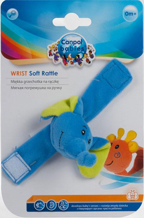 Canpol Babies Мягкая игрушка с погремушкой на руку цвет синий