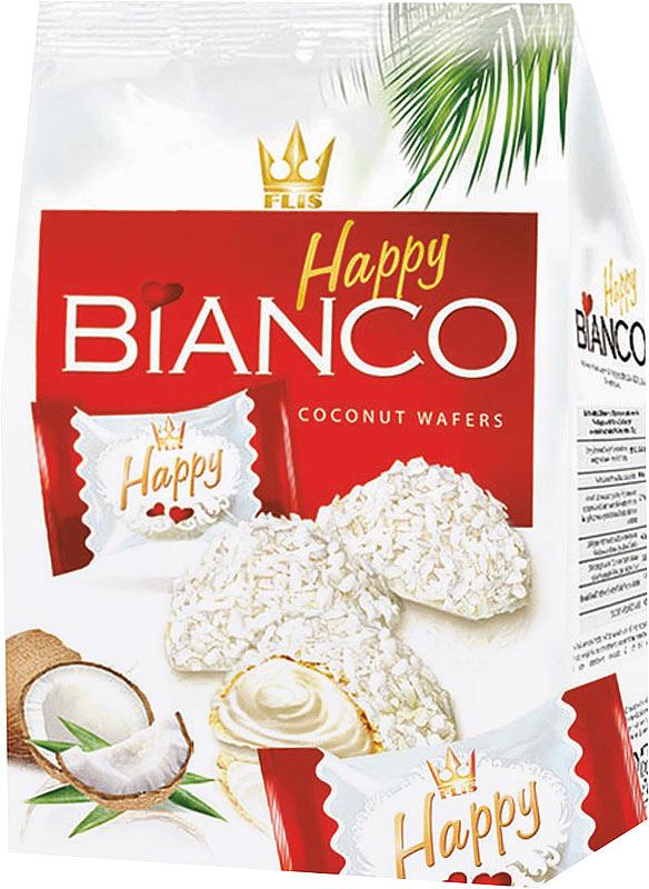 Flis Happy Bianco Red кокосовые глазированные конфеты, 140 г flis happy moka кофейные глазированные конфеты 140 г
