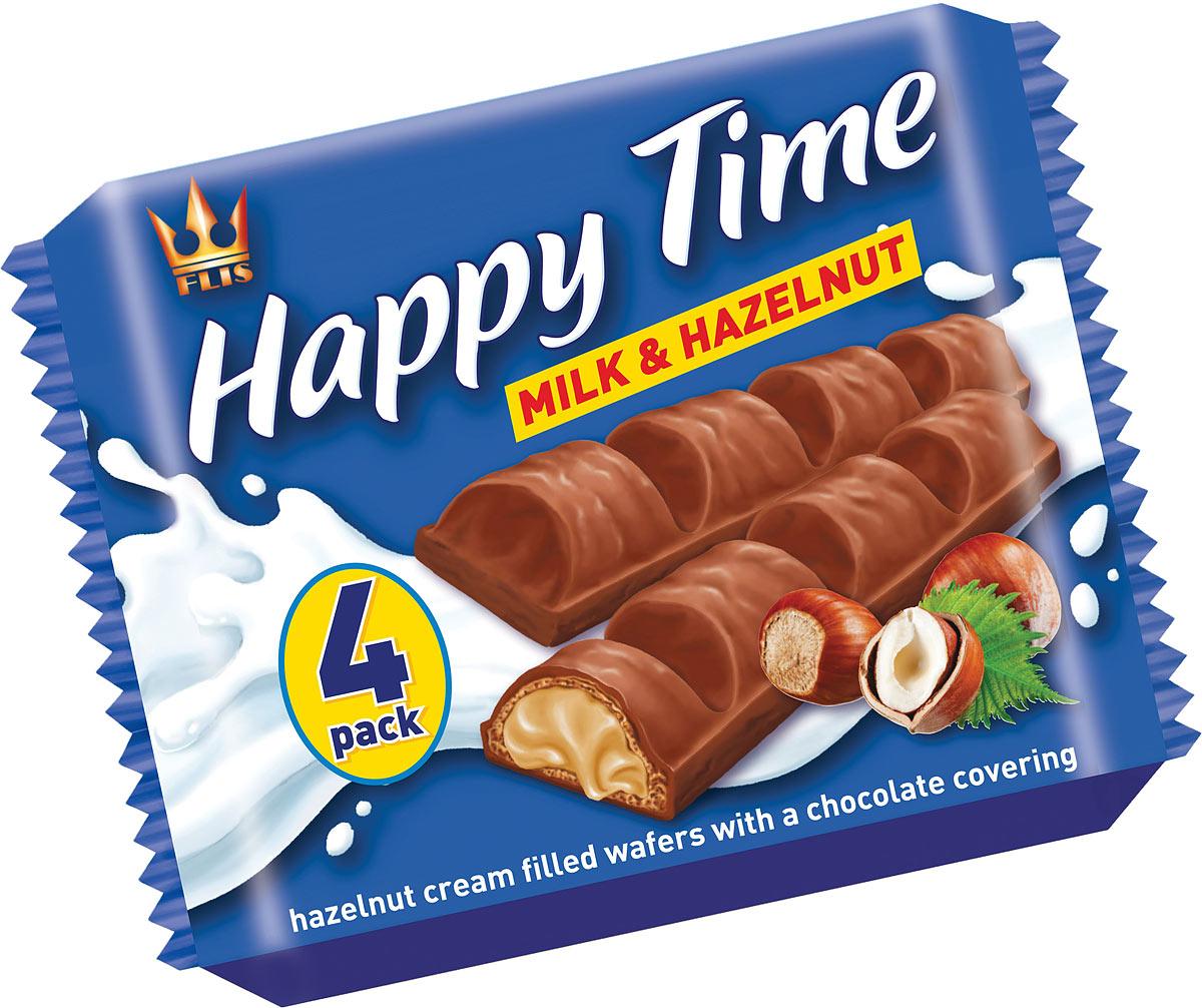 Flis Happy Time ореховые глазированные конфеты, 92 г flis happy moka кофейные глазированные конфеты 140 г
