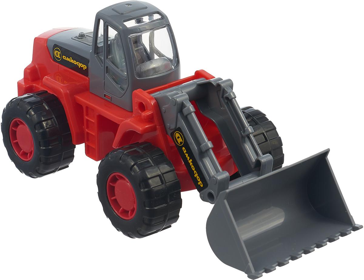 Полесье Трактор-погрузчик Умелец цвет в ассортименте трактор полесье трактор погрузчик умелец оранжевый 159238