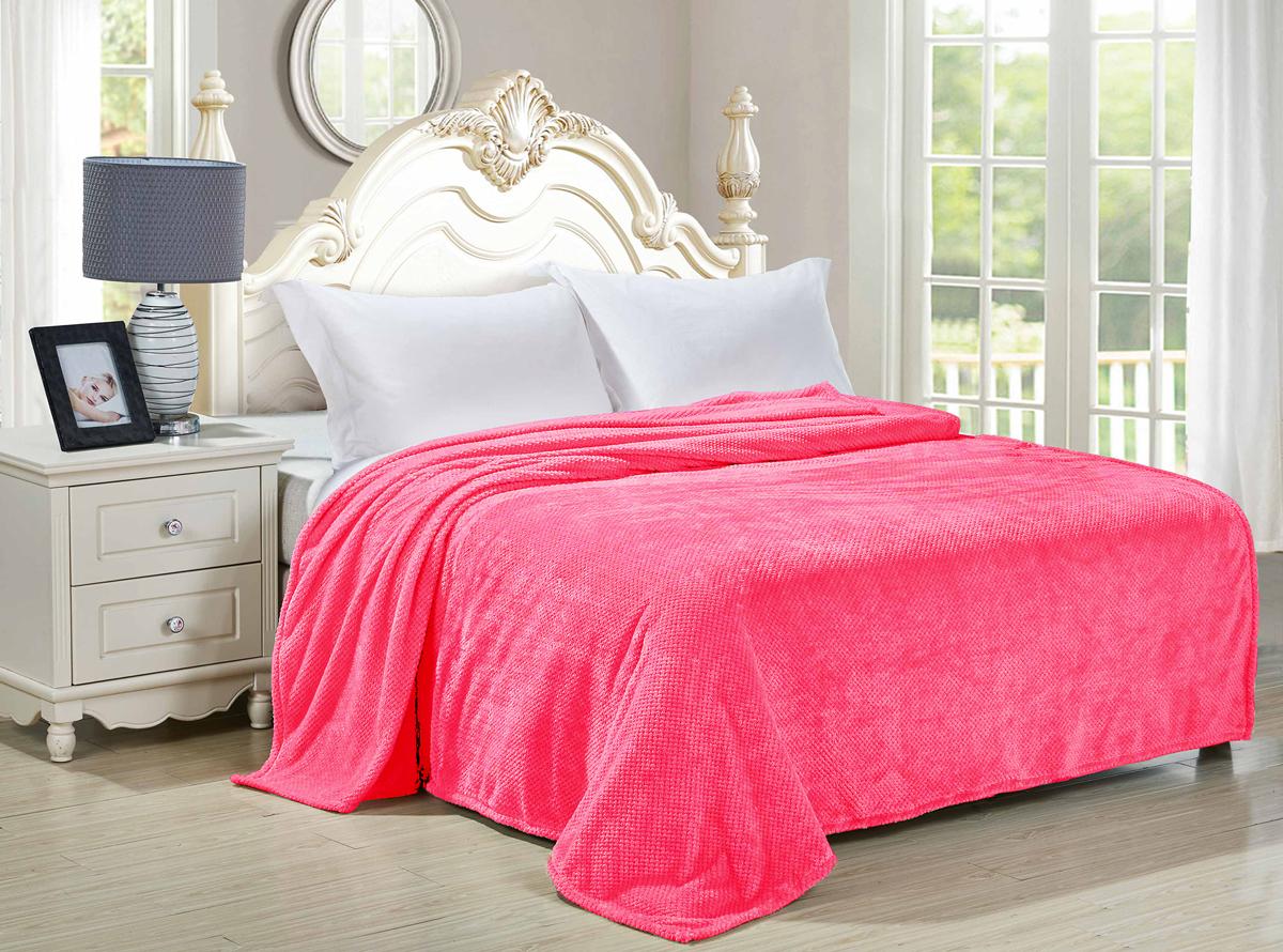 "Плед-покрывало Guten Morgen ""Азалия"", цвет: розовый, 200 х 220 см"