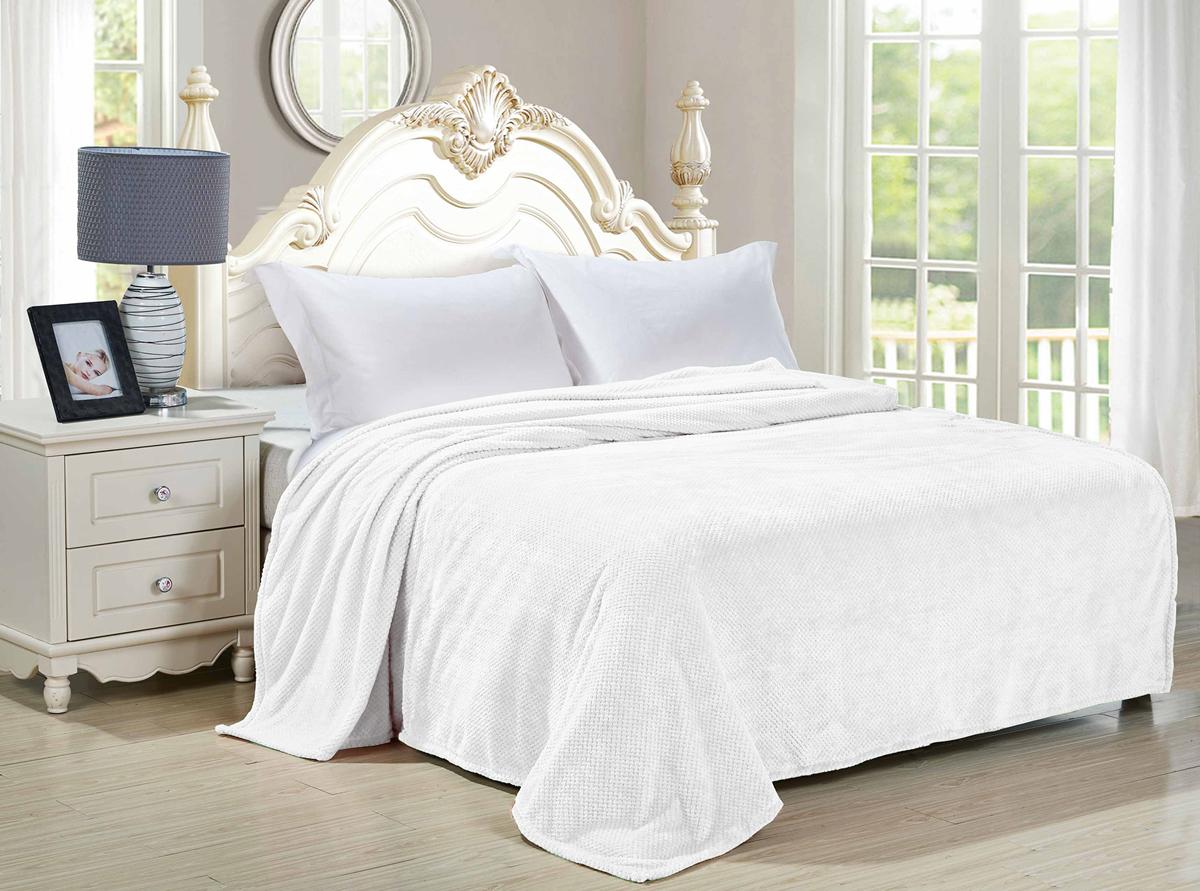 """Плед-покрывало Guten Morgen """"Белый"""", цвет: белый, 180 х 200 см"""