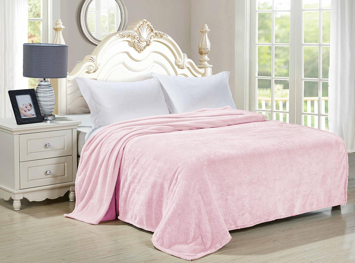 "Плед-покрывало Guten Morgen ""Лаванда"", цвет: розовый, 180 х 200 см"