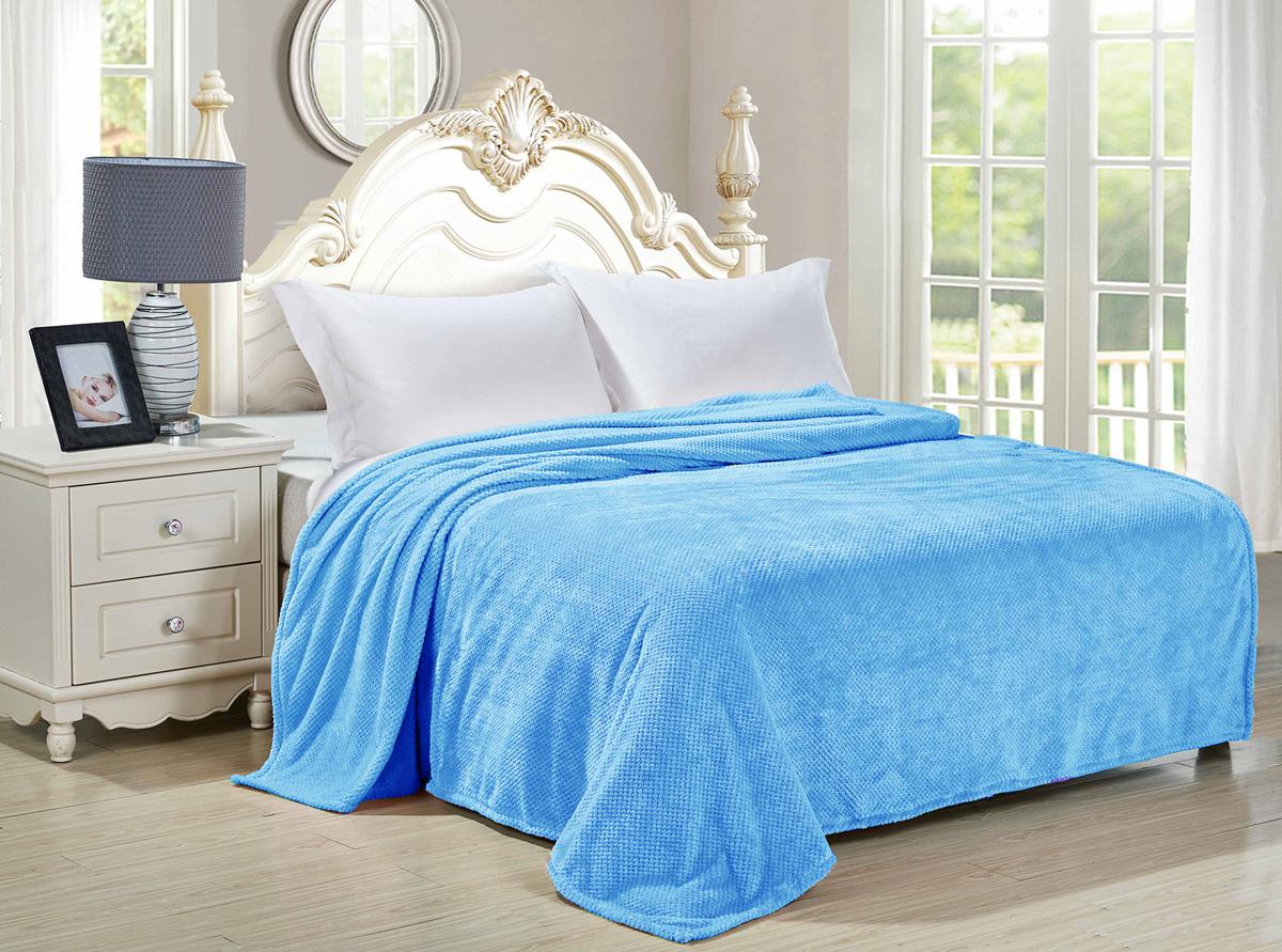 Плед-покрывало Guten Morgen Ривьера, цвет: голубой, 150 х 200 см плед покрывало guten morgen ривьера цвет синий 200 х 220 см