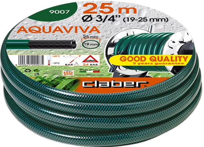 "Шланг поливочный Claber Aquaviva, диаметр 3/4"", длина 25 м рюкзак aquatic р 18"