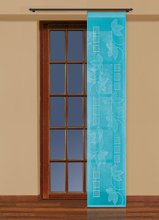 Гардина-панно Haft, на ленте, цвет: бирюзовый, высота 250 см. 207780 комплект гардин панно haft шторы светлые page 10