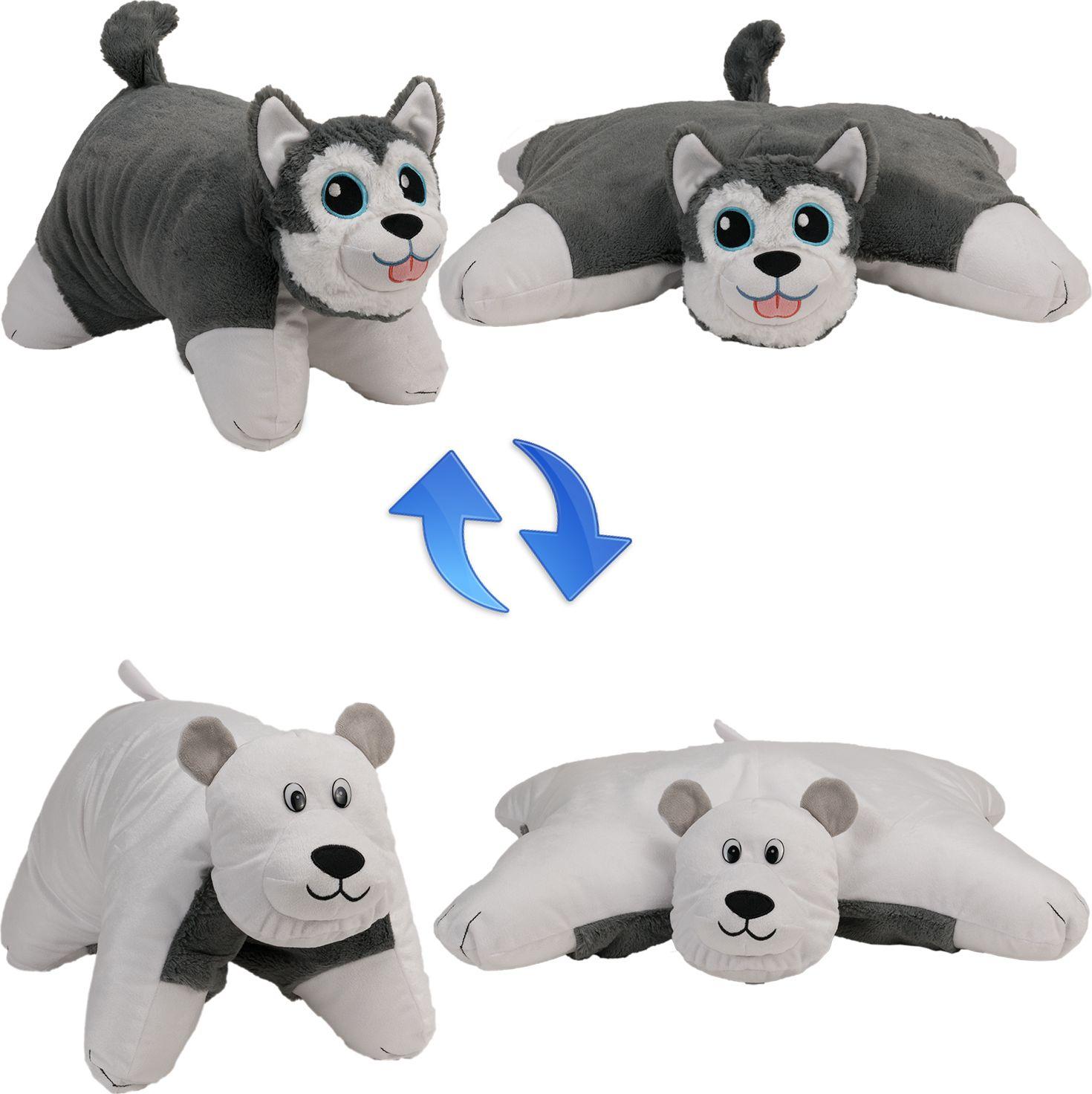 1TOY Мягкая игрушка Вывернушка 2в1 Хаски-Полярный Медведь 18 см цена в Москве и Питере