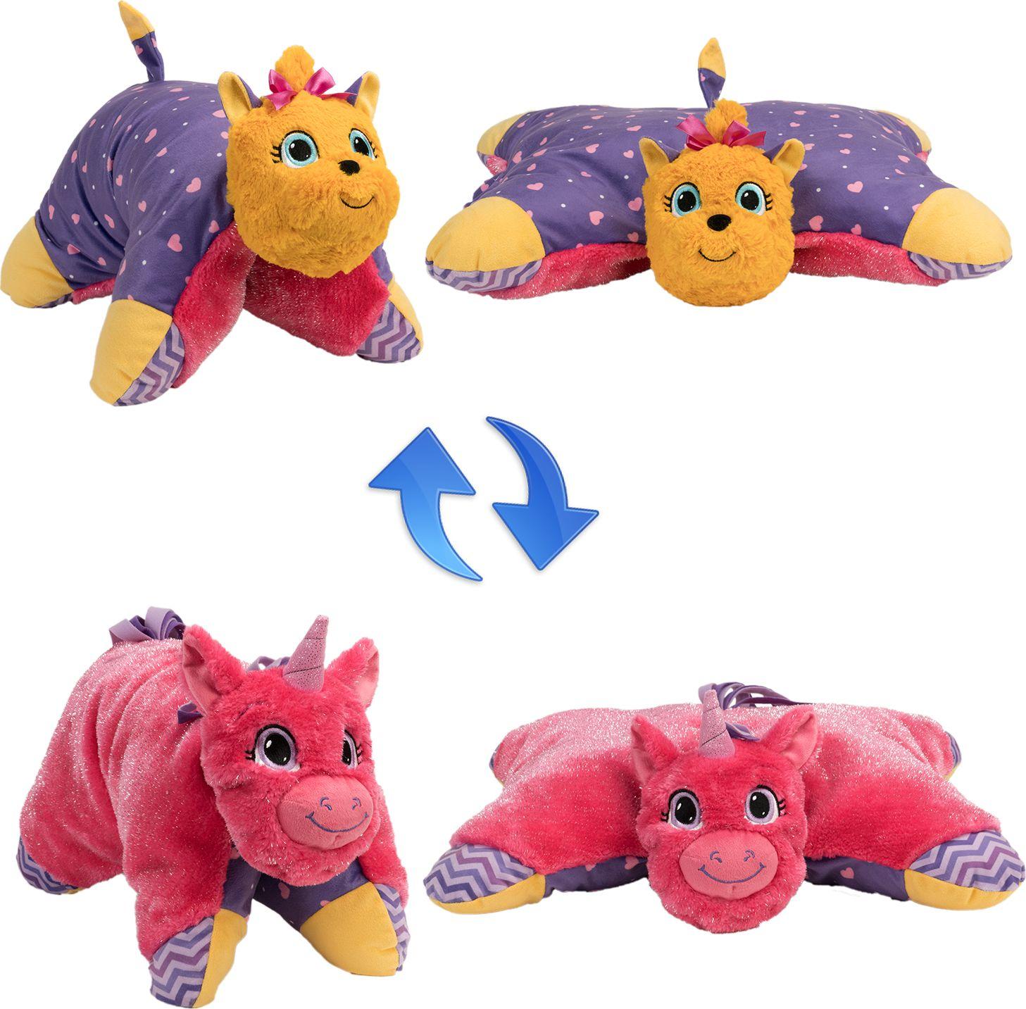 1TOY Мягкая игрушка Вывернушка 2в1 Лавандовый Единорог-Щенок Йорк 11 см мягкие игрушки 1toy вывернушка единорог дракон