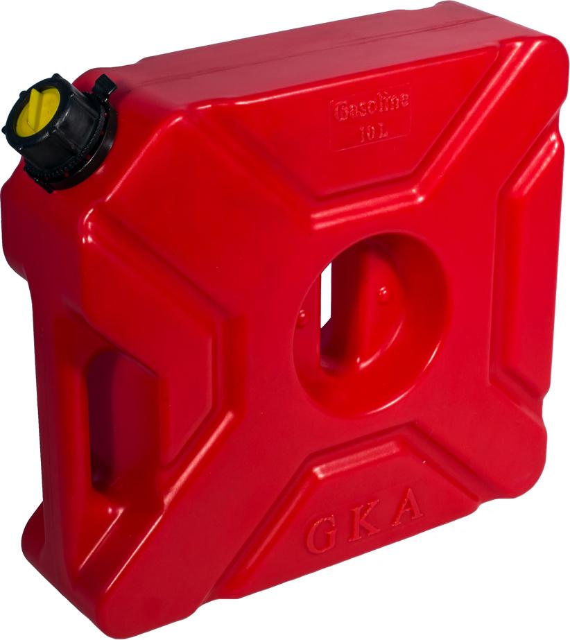 Канистра экспедиционная GKA, цвет: красный, 10 л канистра для воды нпп технохим складная 7 л