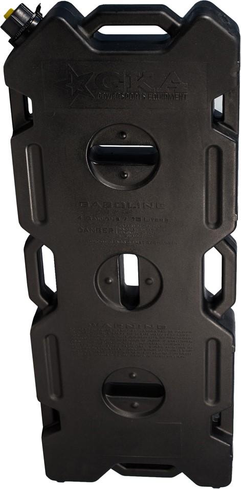 Канистра экспедиционная GKA, цвет: черный, 15 л канистра для воды нпп технохим складная 7 л
