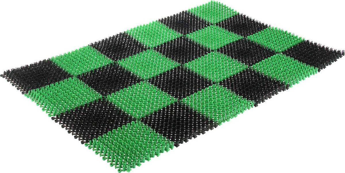 """Настил садовый """"Травка"""", цвет: черный, зеленый, 81 х 54 см"""