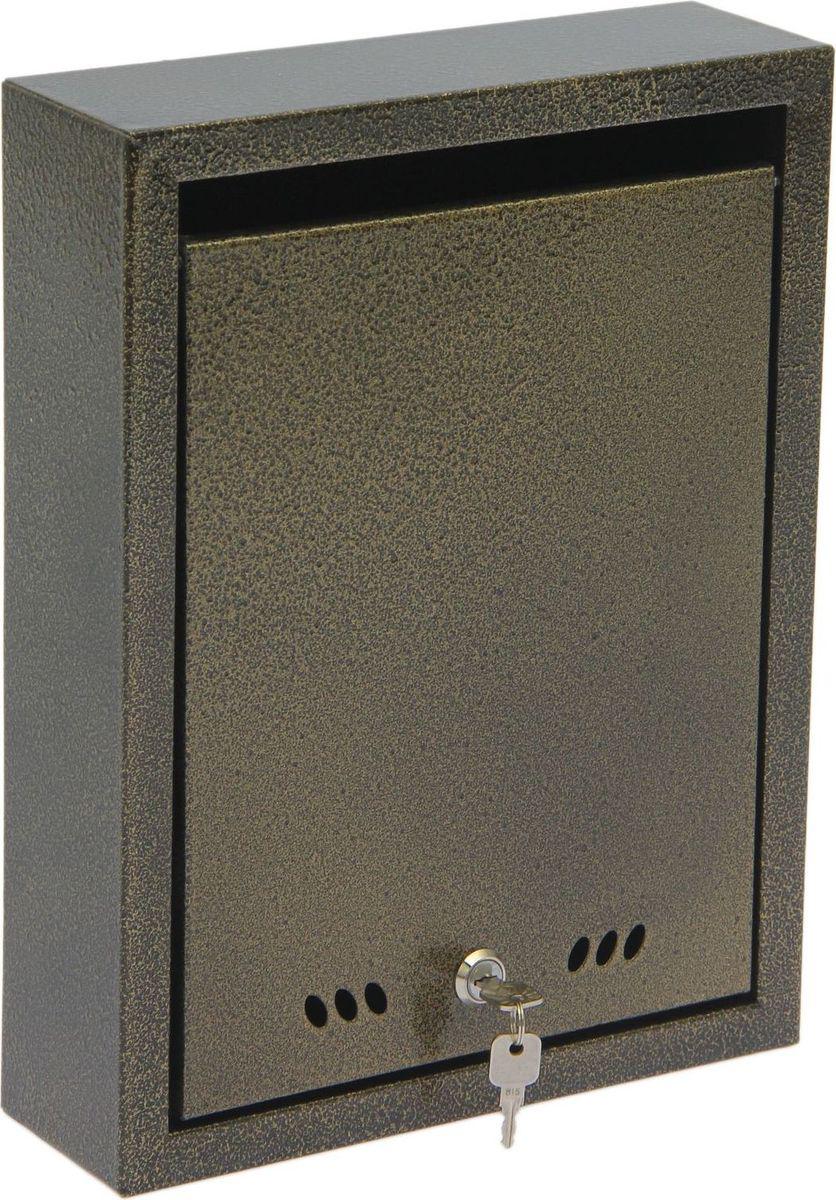 Ящик почтовый ОТК, с замком, цвет: бронзовый, 37 х 28 х 9 см детский комплект отк колобок