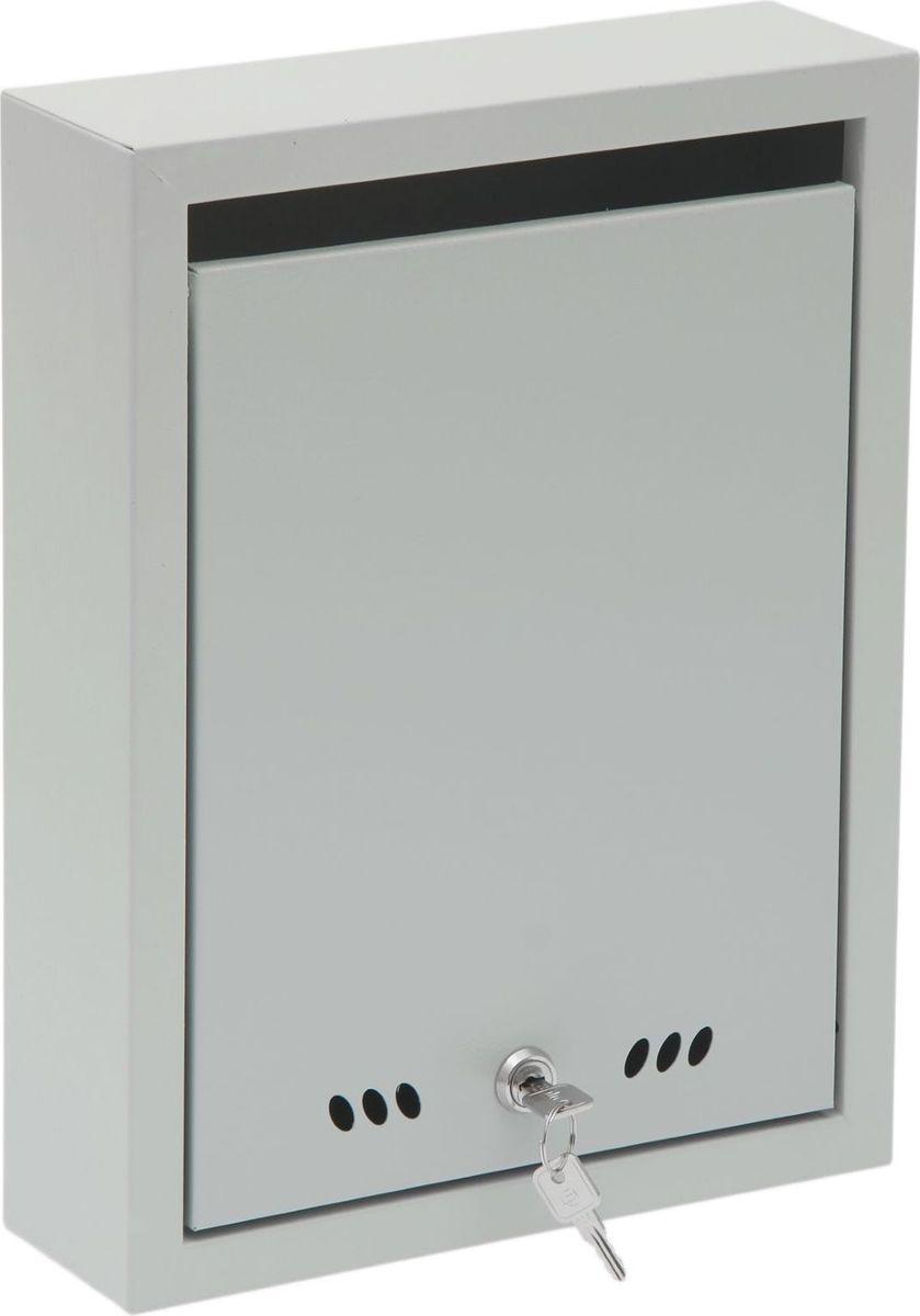 Ящик почтовый ОТК Тюльпан, с замком, цвет: серый, 37,5 х 28,5 х 9 см детский комплект отк колобок