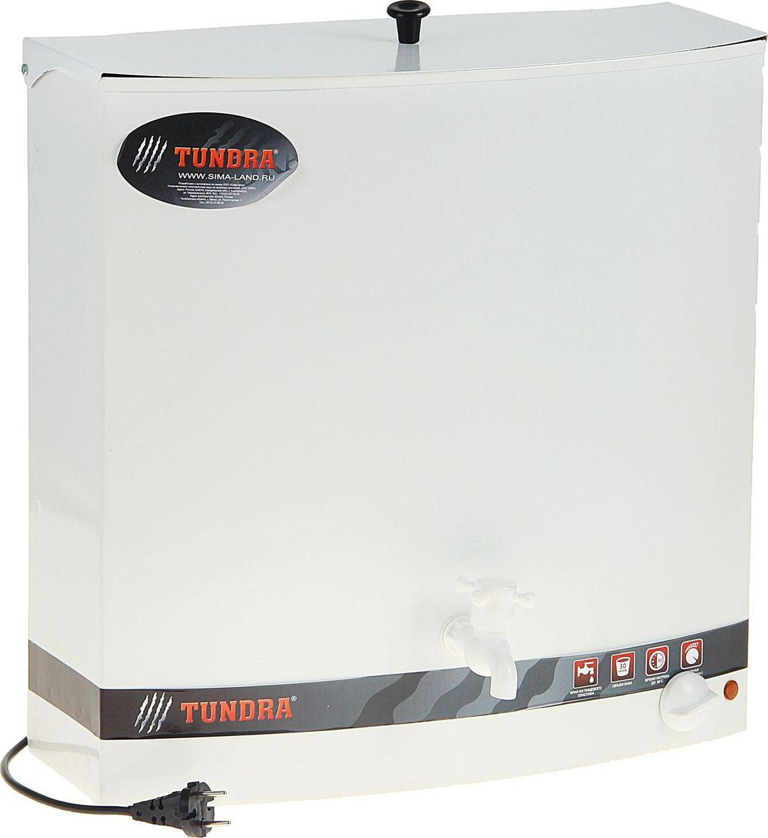Бак настенный Tundra, с электроводонагревателем, цвет: белый, 30 л