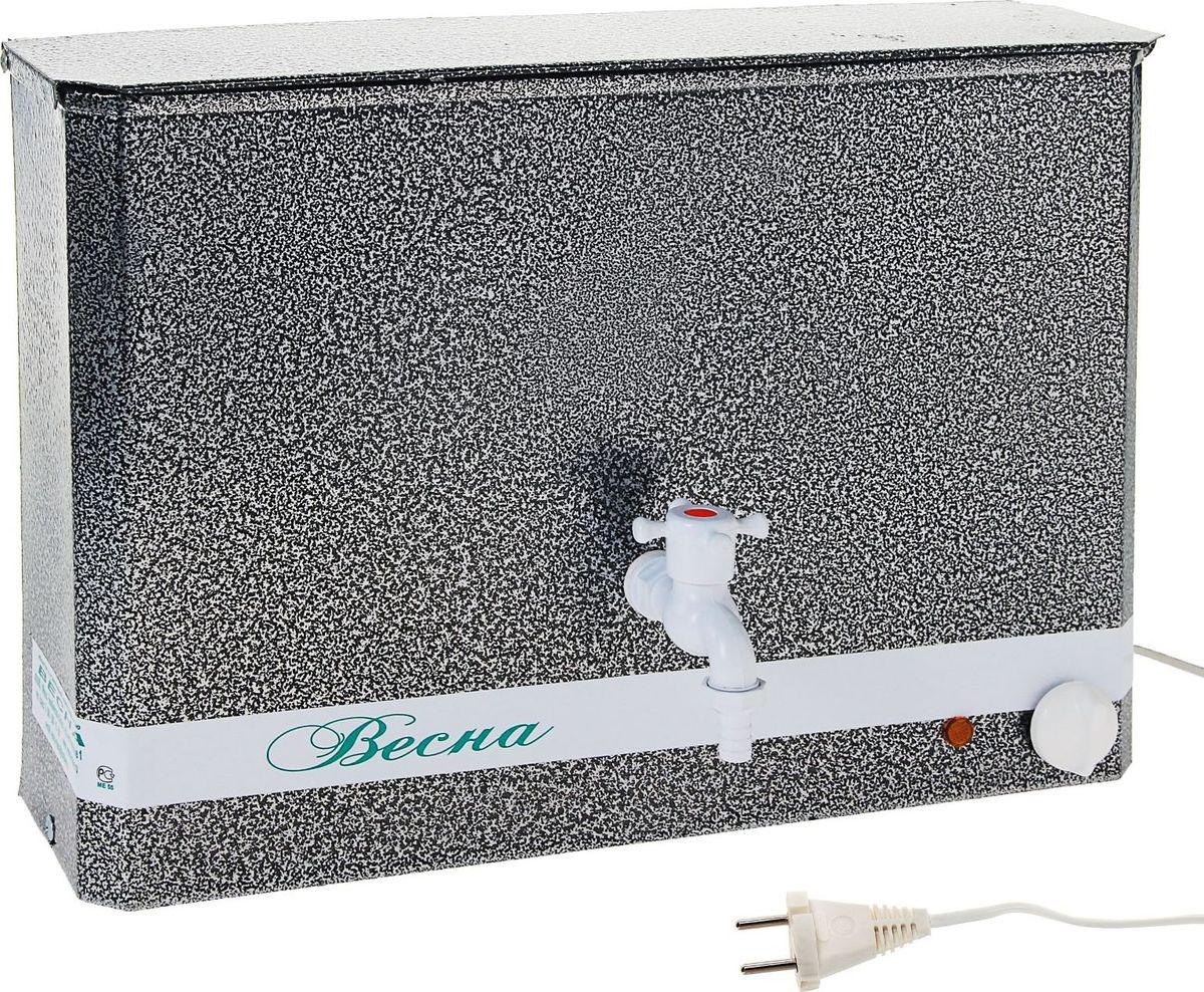 Умывальник Весна, с электроводонагревателем, цвет: серебристый, 15 л