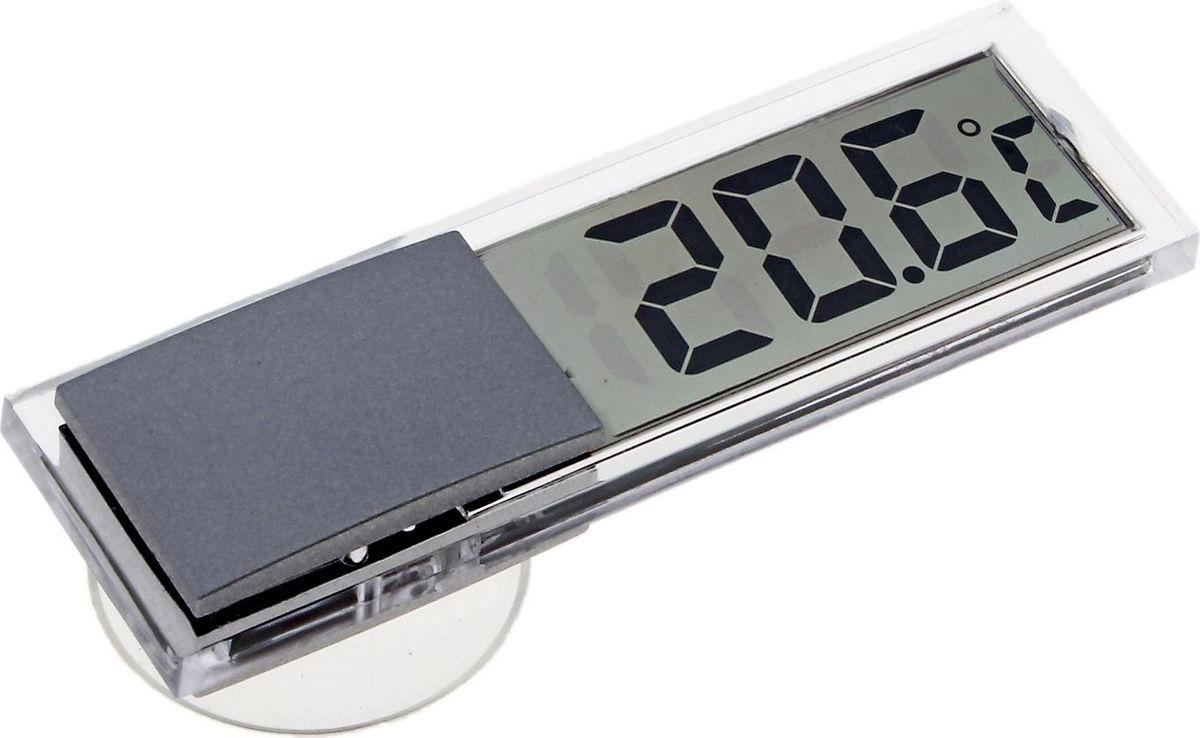 Термометр садовый, электронный, цвет: прозрачный, 2 х 2,9 х 9 см хартманн hartmann термометр thermoval rapid электронный