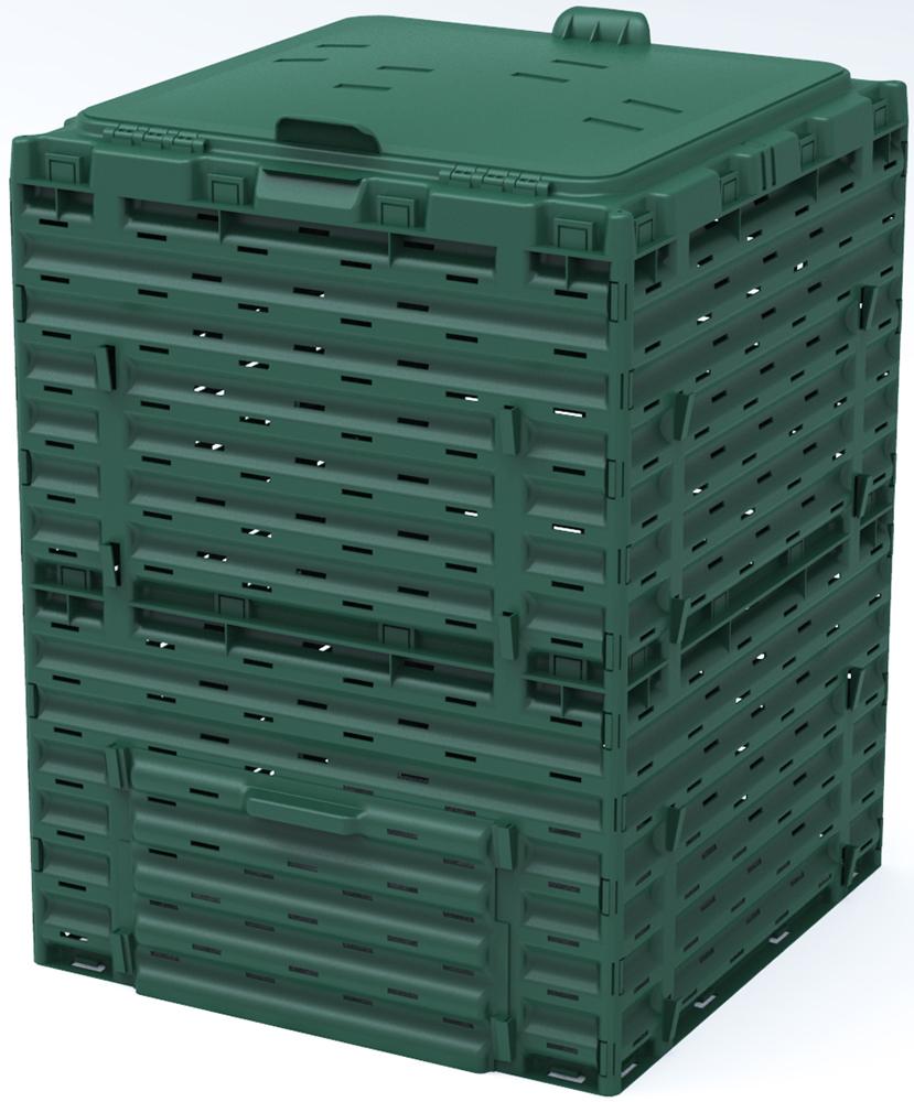 Компостер садовый Piteco, с крышкой, цвет: зеленый, 300 л биотуалет piteco 905