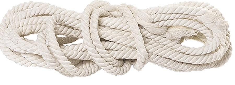 Веревка хлопчатобумажная Сибртех, крученая, D 14 мм, L 11 м, 370 кгс цена