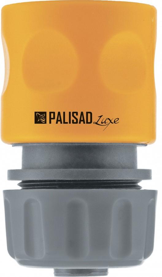 Соединитель садовый Palisad, пластмассовый, быстросъемный, для шланга 3/4, однокомпонентный соединитель садовый palisad пластмассовый быстросъемный для шланга 1 2 аквастоп