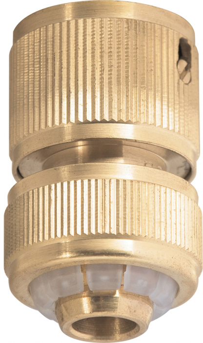 Фото - Соединитель садовый Palisad, латунный, быстросъемный, для шланга 1/2 соединитель для полива palisad латунный быстросъемный аквастоп 66265