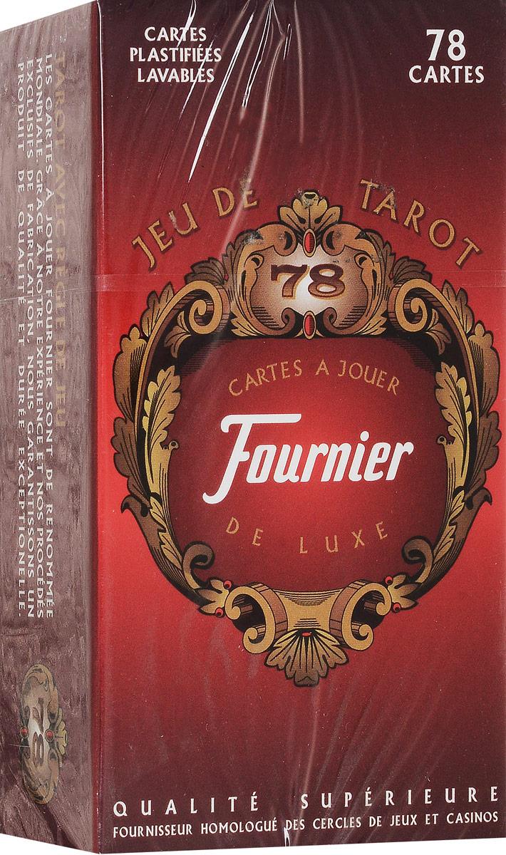 Карты Таро Fournier French. Fournier, цвет: красный игральные карты fournier fournier 2818 100