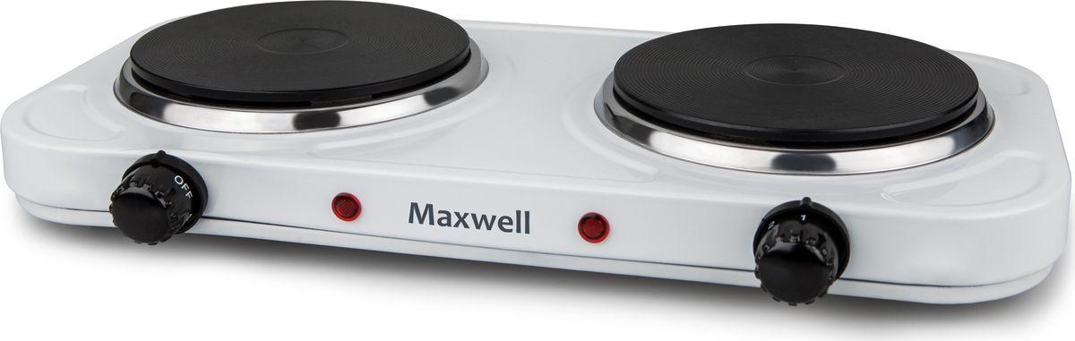 Maxwell 1904-MW(W), White настольная плитка плитка электрическая maxwell mw 1902