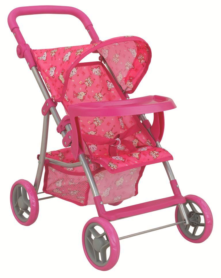 Транспорт для кукол Buggy Boom Коляска для кукол 8232A Skyna (Скайна), розовый