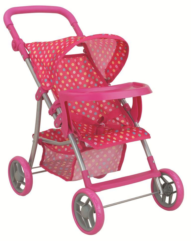 Транспорт для кукол Buggy Boom Коляска для кукол 8232A Skyna (Скайна), темно-розовый