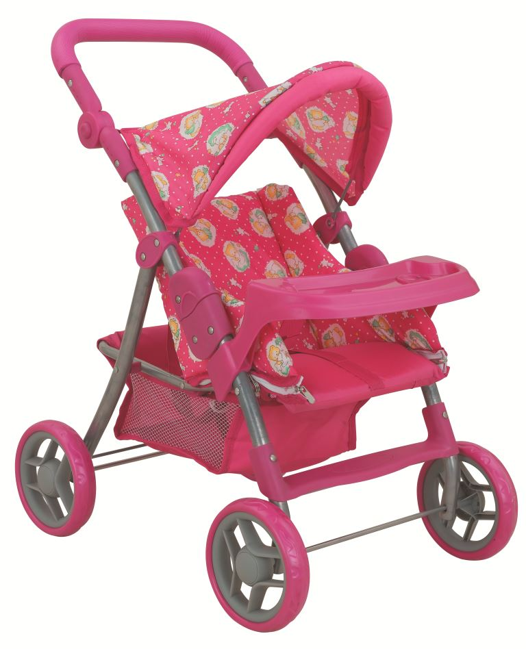 коляска для кукол Buggy Boom Коляска-трансформер для кукол 8233A Skyna (Скайна), темно-розовый, желтый цена 2017