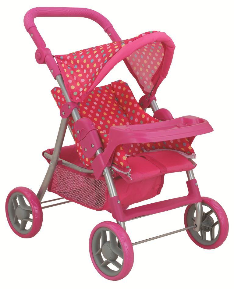 коляска для кукол Buggy Boom Коляска-трансформер для кукол 8233A Skyna (Скайна), темно-розовый цена 2017