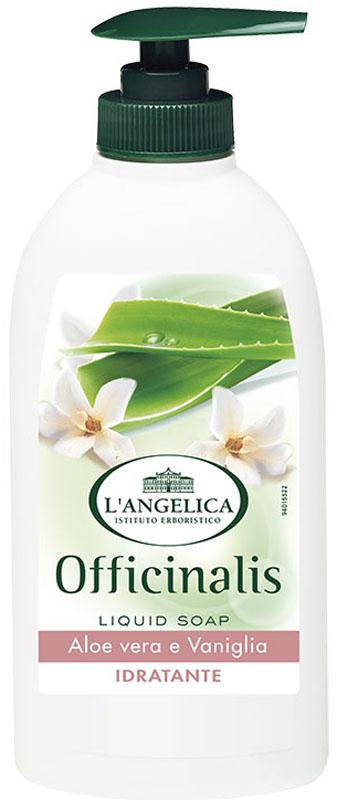 L'angelica Жидкое мыло деликатное с экстрактом алоэ и ванили, 300 мл