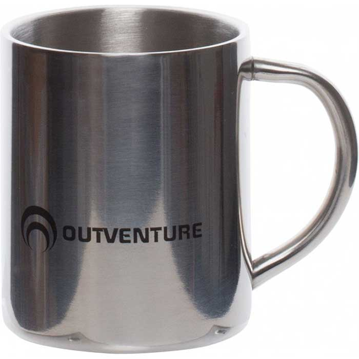 Термокружка Outventure, цвет: серебристый, 220 мл outventure стул outventure