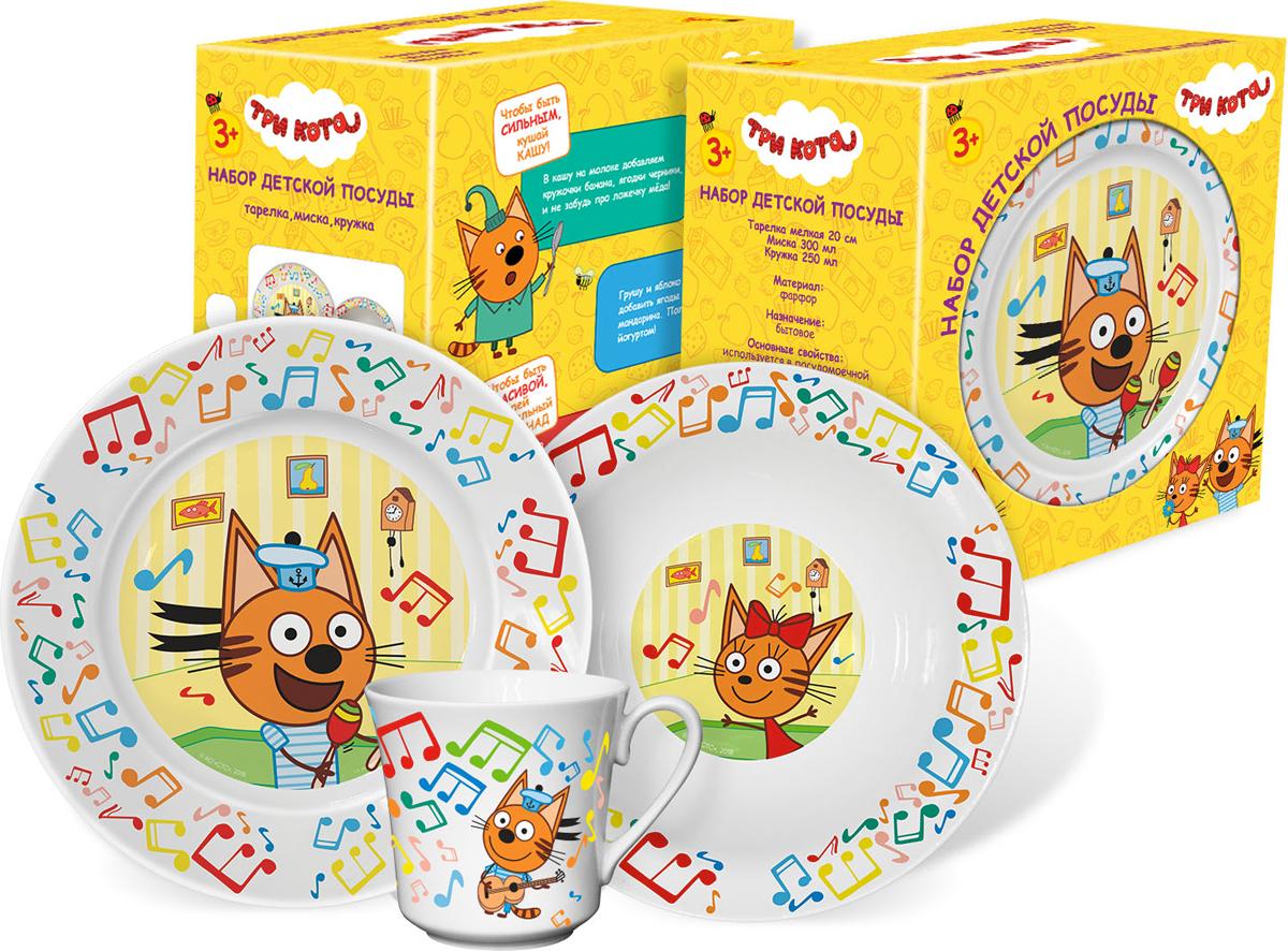 Набор детской посуды Priority / Три Кота Нотки