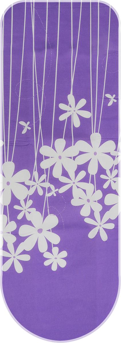 Чехол для гладильной доски Metaltex Special, цвет: белый, фиолетовый, 135 х 50 см metaltex 25 24 50