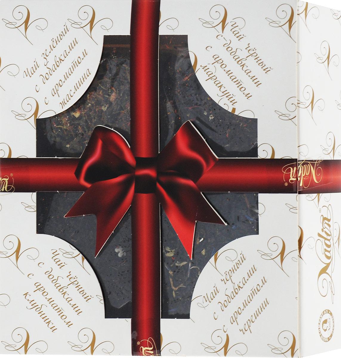 Nadin Подарочный набор 4 вида чая, 200 г nadin счастья в новом году чай черный листовой 50 г