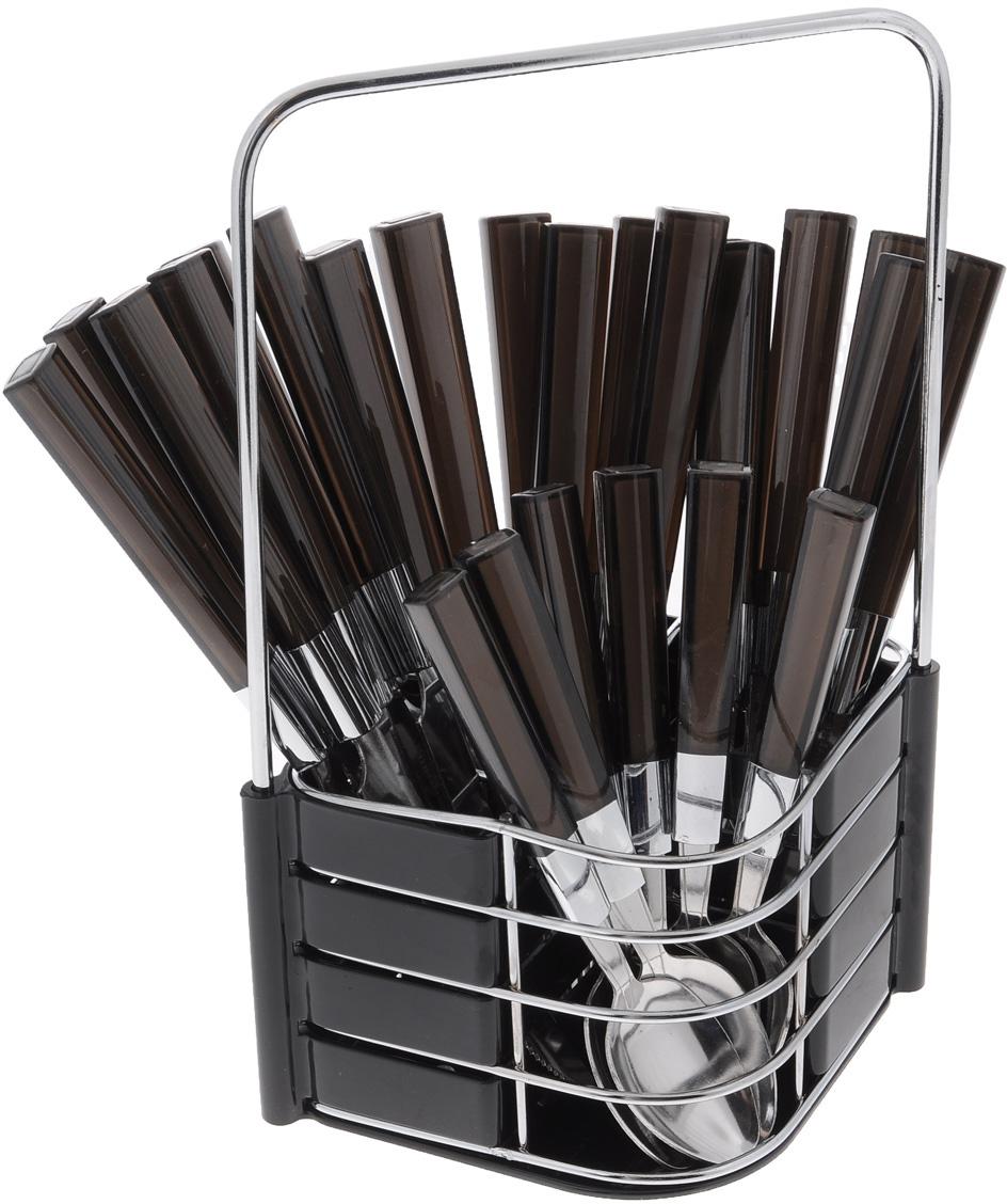 Набор столовых приборов Mayer&Boch, цвет: черный, 25 предметов. 23241
