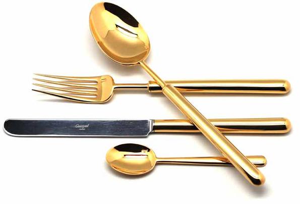 Набор столовых приборов Cutipol Bali Gold, цвет: золотой, 24 предмета. 9311 cutipol набор столовых приборов bali gold 24 пр 9311 cutipol