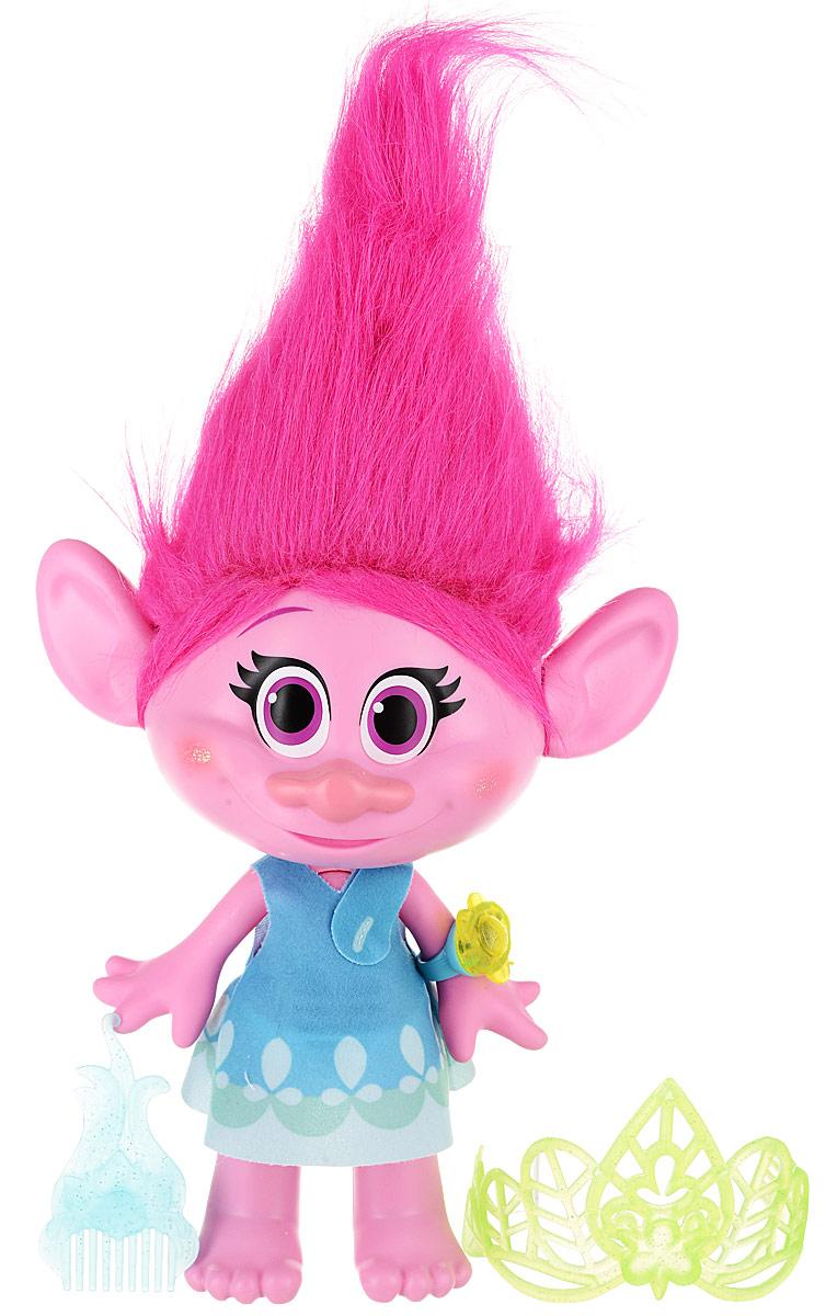 Trolls Фигурка Поющая Поппи фигурки героев мультфильмов trolls коллекционная фигурка trolls в закрытой упаковке 10 см в ассортименте