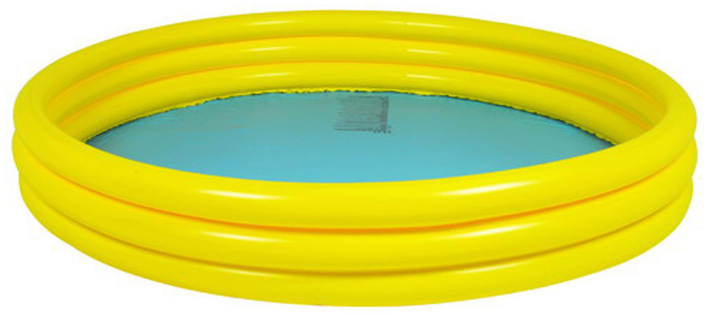 """Бассейн надувной Jilong """"Plain"""", цвет: голубой, желтый, 99 х 99 х 23 см"""