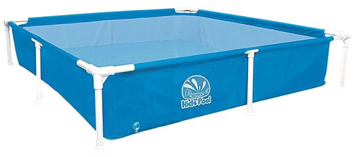 Бассейн каркасный Jilong Kids Frame Pool, цвет: голубой, 152 х 152 x 33 см бассейн каркасный jilong kids frame pool цвет зеленый 152 х 152 x 33 см